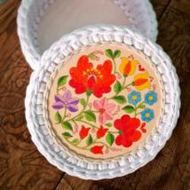 Kalocsai virágok - kör 15 cm