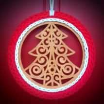 Karácsonyfa - 20 cm kör horgolható fa alap