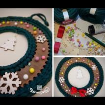 Karácsonyi kopogtató készítő csomag horgolótűvel