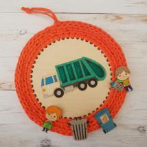 Kukásautós szett felvarrható figurákkal - 20 cm-es kör