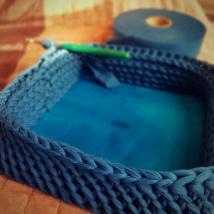 ÚJ! Négyzet 25 cm-es horgolható faalap - Wood Stitch Collection