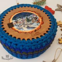 Titkos ládikó - ajtós elem - Wood Stitch Collection