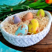 Óriás tojás - 24 cm-es horgolható faalap