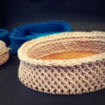 Ovális 25 cm-es horgolható faalap - Wood Stitch Collection