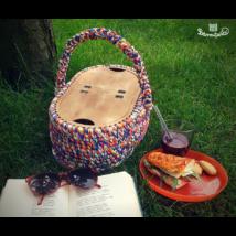 Horgolható piknik kosár tető  - Wood Stitch Collection