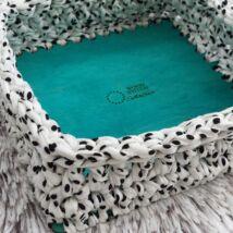 Négyzet 20 cm-es horgolható fa alap - Wood Stitch Collection