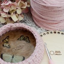 Kör 15 cm-es horgolható fa alap - Wood Stitch Collection