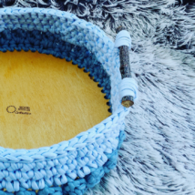 Kör 25 cm-es horgolható faalap - Wood Stitch Collection