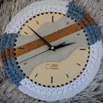 Horgolható fa óralap - Wood Stitch Collection
