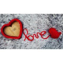 Szív 15 cm-es horgolható fa alap - Wood Stitch Collection
