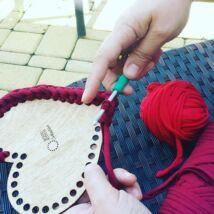 Szív 25 cm-es horgolható fa alap - Wood Stitch Collection