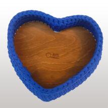 Szív 22 cm-es horgolható faalap - Wood Stitch Collection