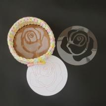 WSC stencil - Óriás rózsa