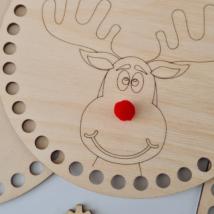 Rudolf - 15 cm kör horgolható fa alap