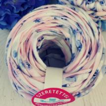 Romantikus, kék virágos pólófonal
