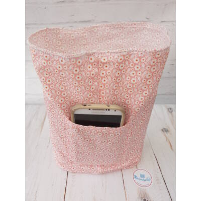 Rózsaszín apró virágos kész táskabelső - kis méret