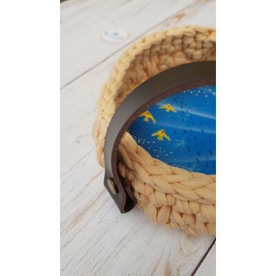 Kosár fül csavaros - hosszú - csokibarna