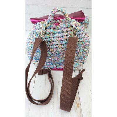 pamut csokibarna hátizsákpánt ezüst színű szerelékkel