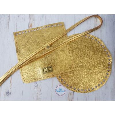 Bőr hátizsák szett - arany