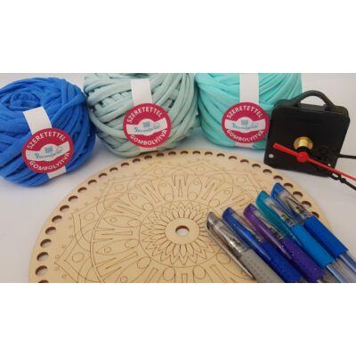 ÉNIDŐ horgolt mandala óra készítő csomag - VÍZ - Wood Stitch Collection