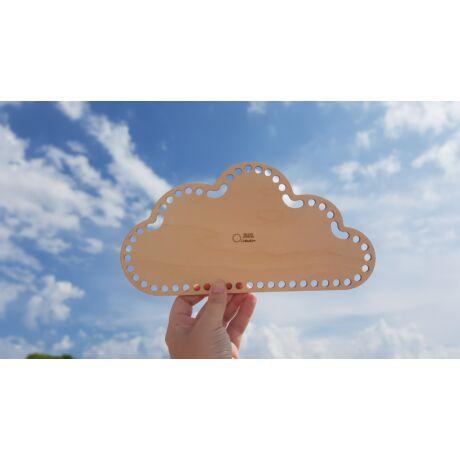 Felhő alakú horgolható falap - Wood Stitch Collection