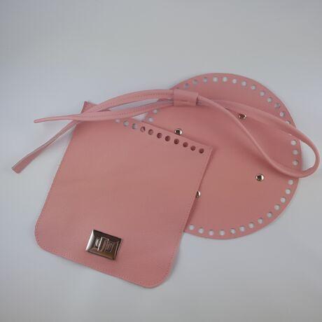 Bőr hátizsák szett - skandináv rózsaszín