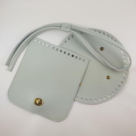 Bőr hátizsák szett - vintage szürke