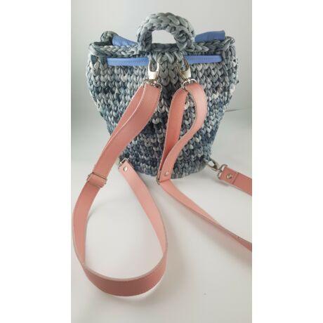 Bőr hátizsákpánt - Skandináv rózsaszín