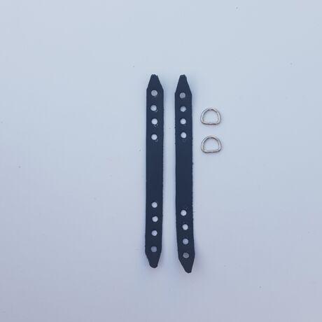 Bőr varrható/horgolható pánttartó szett - Fekete
