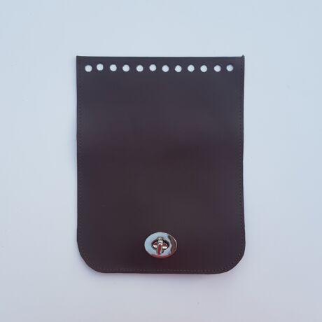 Bőr táskafedél - Gesztenye