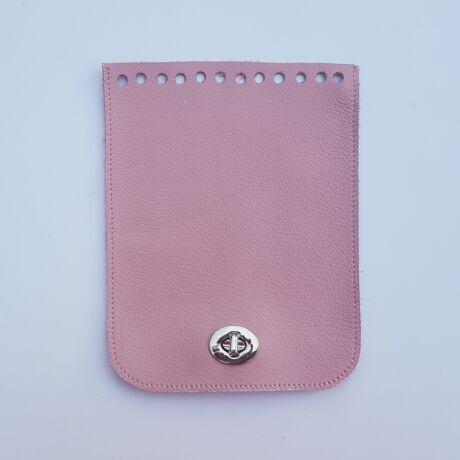 Bőr táskafedél - Őszi rózsaszín