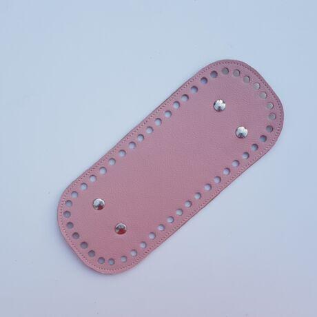 Bőr táskaalj - Őszi rózsaszín