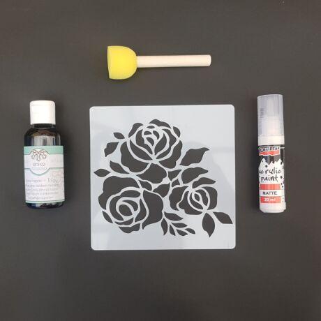 Stencilező készlet - Rózsák