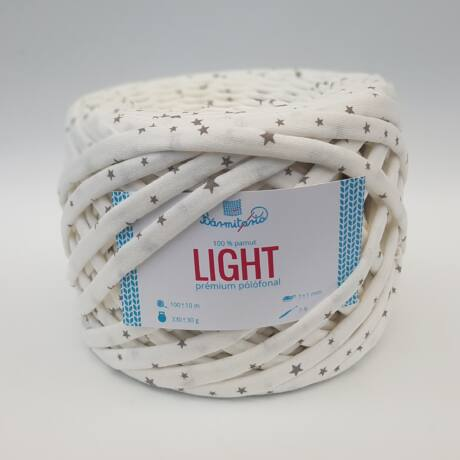Bármitartó LIGHT prémium pólófonal - Krém szürke csillagokkal