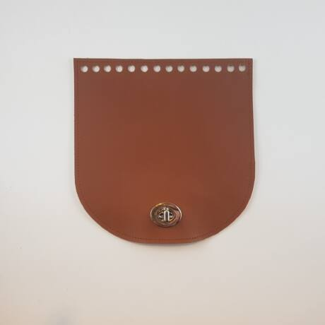 Íves bőr táskafedél - Őzbarna