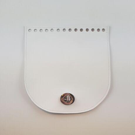 Íves bőr táskafedél - Fehér