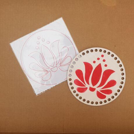 WSC stencil - Folk tulipán