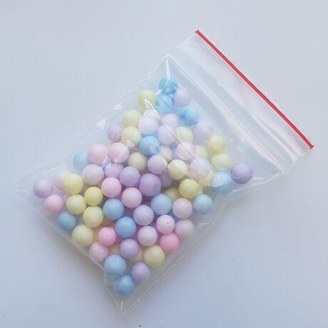 Pasztell színű hungarocell golyócskák 4-6 mm