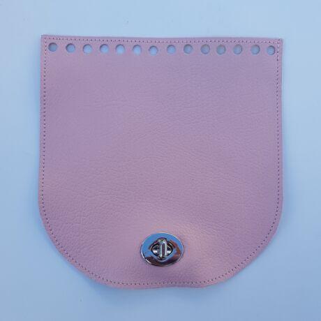 Íves bőr táskafedél - Rózsaszín