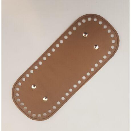 Bőr táskaalj - Bronz barna