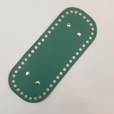 Bőr táskaalj - Smaragd