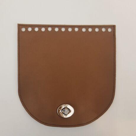 Íves bőr táskafedél - Bronz barna