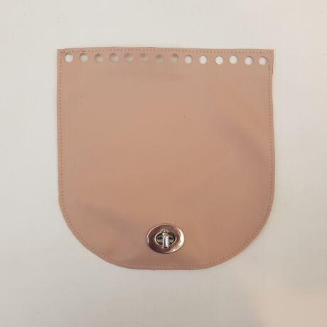 Íves bőr táskafedél - Púder