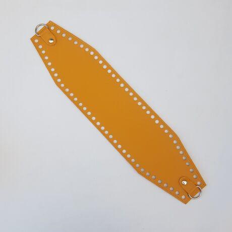Bőr horgolható táskatest - Őszi sárga