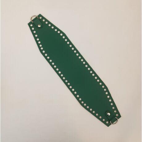 Bőr horgolható táskatest - Smaragd