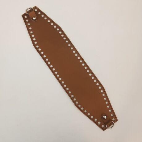 Bőr horgolható táskatest - Bronz barna