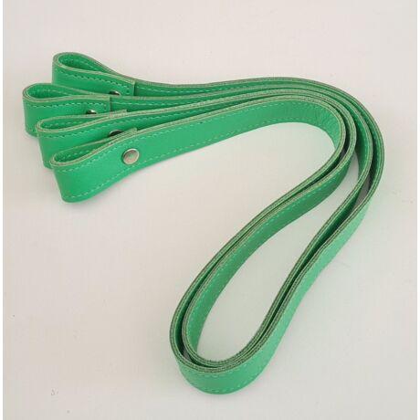 Csavaros bőr táskapánt párban - Nyári zöld