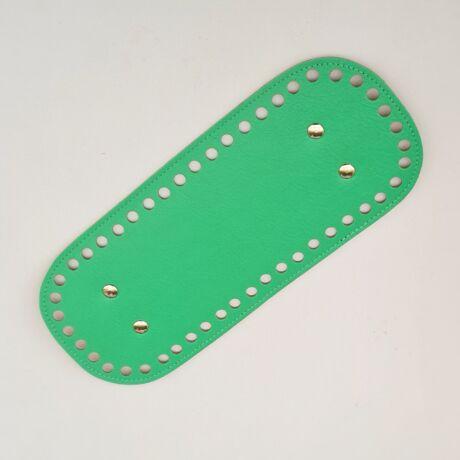 Bőr táskaalj - Nyári zöld