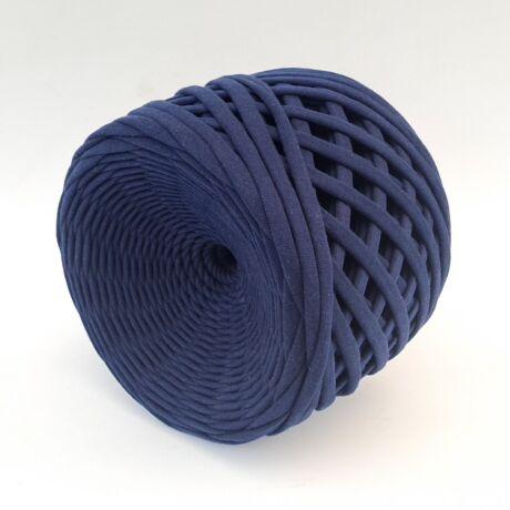 Texturált prémium pólófonal - kék bársony