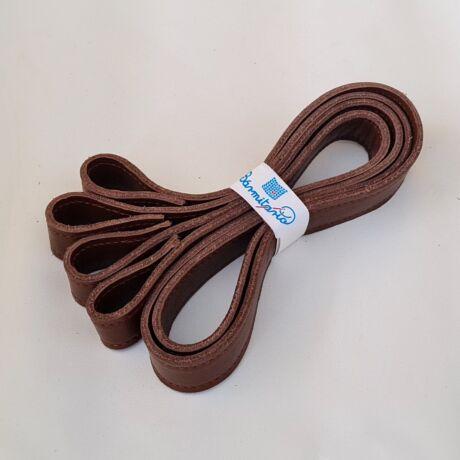Csavaros bőr táskapánt párban - Csokoládé